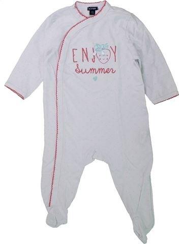 Pijama de 1 pieza niña KIABI blanco 12 meses verano #1433836_1