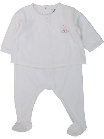 Pijama de 1 pieza niña PETIT BATEAU blanco 6 meses invierno #1433881_1
