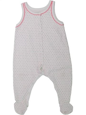 Pyjama 1 pièce fille PETIT BATEAU blanc 6 mois hiver #1433926_1