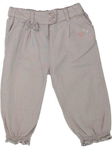 Pantalón niña GEMO gris 18 meses verano #1433954_1