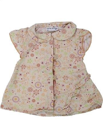 Blusa de manga corta niña SUCRE D'ORGE beige 9 meses verano #1433992_1