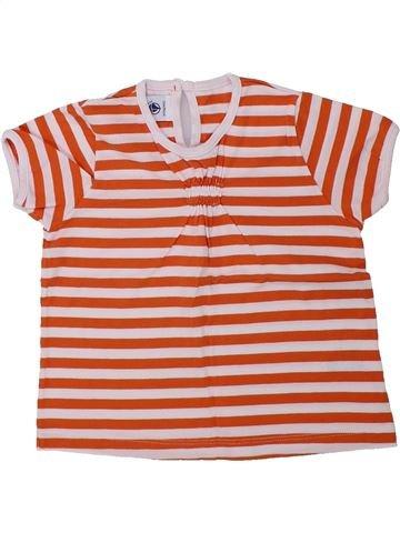 T-shirt manches courtes fille PETIT BATEAU orange 2 ans été #1434598_1