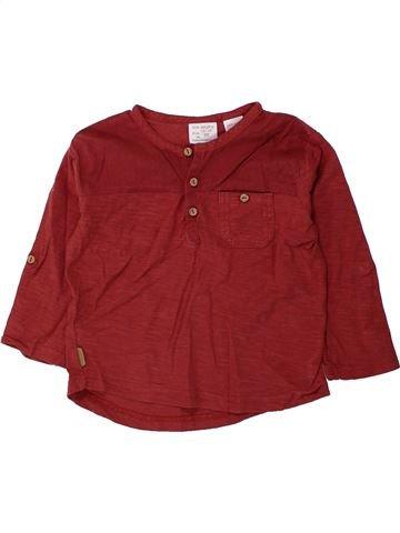 T-shirt manches longues garçon ZARA violet 18 mois hiver #1434707_1