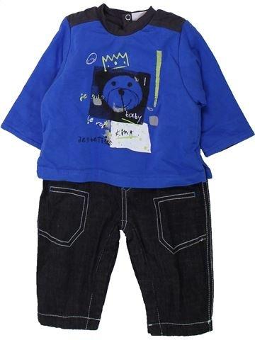 Combinación larga niño 3 POMMES azul 3 meses invierno #1435135_1