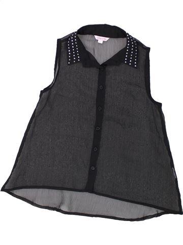 Blusa de manga corta niña MISS E-VIE negro 9 años verano #1435580_1