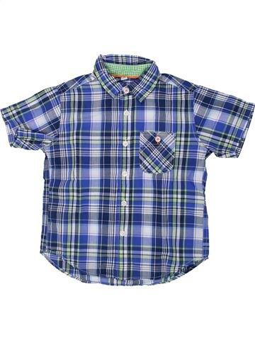 Chemise manches courtes garçon UNIQLO bleu 4 ans été #1436120_1