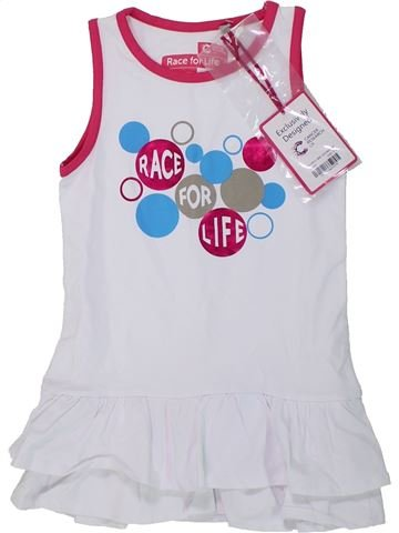 Robe fille RACE FOR LIFE blanc 4 ans été #1436634_1
