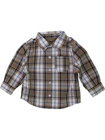 Chemise manches longues garçon OKAIDI gris 12 mois hiver #1437871_1
