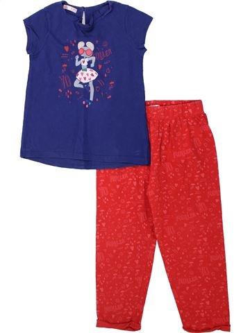 Pyjama 2 pièces fille DPAM rouge 6 ans été #1438097_1