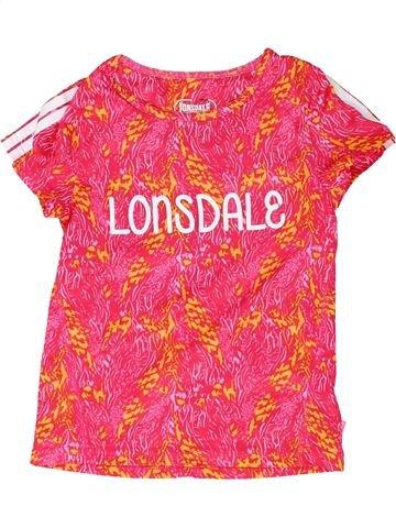 T-shirt manches courtes fille LONSDALE rose 10 ans été #1438816_1