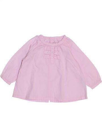 Blusa de manga larga niña BRIOCHE rosa 6 meses invierno #1439518_1