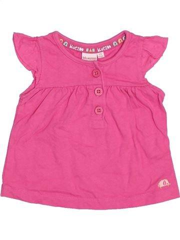Camiseta de manga corta niña BLUEZOO rosa 6 meses verano #1439657_1
