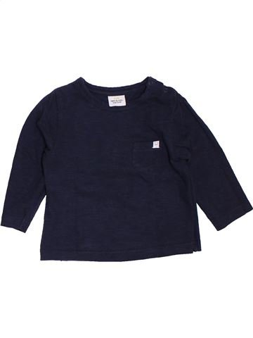 T-shirt manches longues garçon TAPE À L'OEIL noir 12 mois hiver #1440509_1