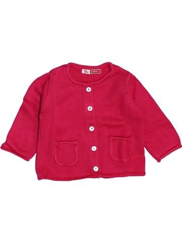 Gilet fille DPAM rouge 6 mois hiver #1441116_1