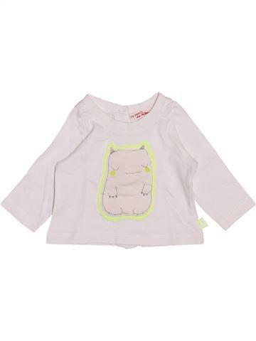 T-shirt manches longues garçon DPAM blanc 1 mois hiver #1443298_1