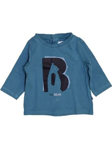 T-shirt manches longues garçon OKAIDI bleu 1 mois hiver #1443301_1