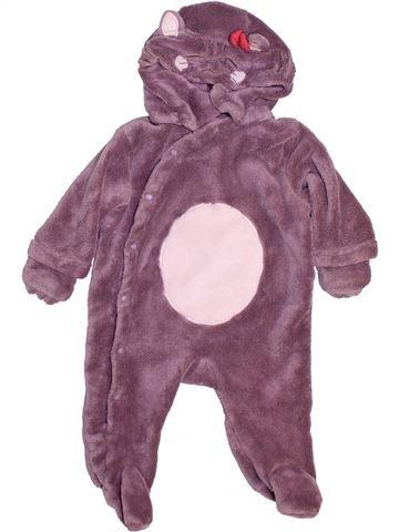 Robe de chambre fille DPAM violet 3 mois hiver #1443502_1