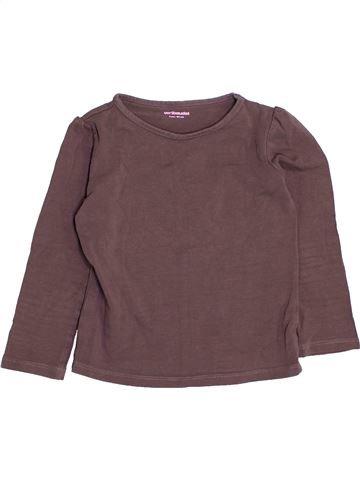 T-shirt manches longues fille VERTBAUDET gris 3 ans hiver #1443696_1