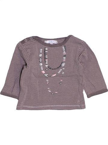 T-shirt manches longues fille KIABI gris 3 mois hiver #1443834_1