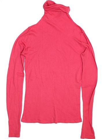 T-shirt col roulé fille PETIT BATEAU rose 14 ans hiver #1444036_1