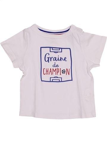 T-shirt manches courtes garçon TAPE À L'OEIL blanc 12 mois été #1444111_1