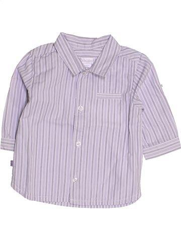 Chemise manches longues garçon OKAIDI blanc 3 mois hiver #1444174_1