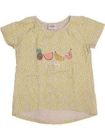 Camiseta de manga corta niña TAPE À L'OEIL beige 3 años verano #1444404_1