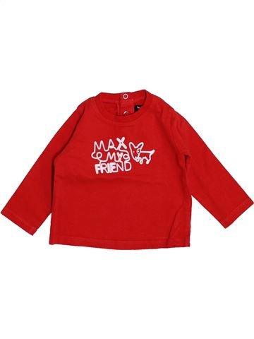 T-shirt manches longues garçon TOUT COMPTE FAIT rouge 6 mois hiver #1444557_1