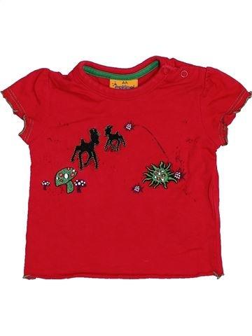 Camiseta de manga corta niña IMPIDIMPI rojo 6 meses verano #1445370_1