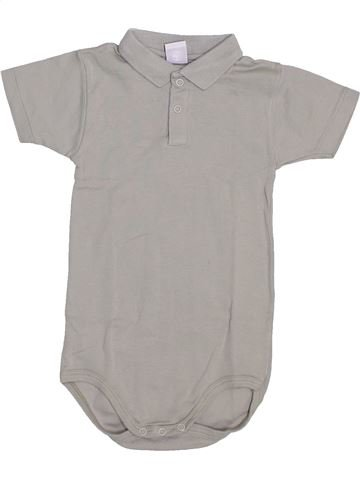 Polo de manga corta niño PETIT BATEAU gris 3 años verano #1445486_1