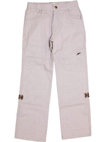 Pantalon garçon VERTBAUDET blanc 9 ans été #1445866_1