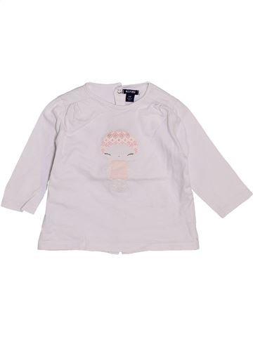 T-shirt manches longues fille KIABI blanc 6 mois hiver #1446258_1