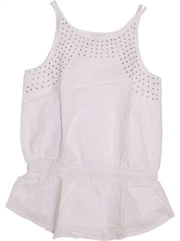 T-shirt sans manches fille VERTBAUDET blanc 10 ans été #1446454_1