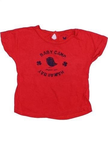 Camiseta de manga corta niña BOUT'CHOU rojo 2 años verano #1446718_1