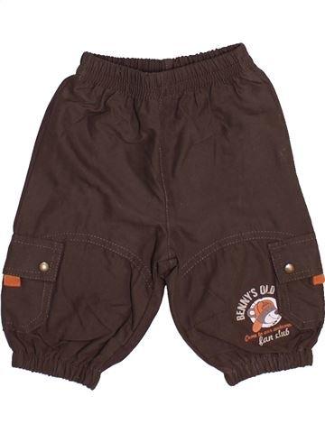 Pantalon garçon PETIT BATEAU marron 3 mois hiver #1446730_1