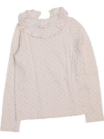 T-shirt manches longues fille PETIT BATEAU violet 8 ans hiver #1446819_1