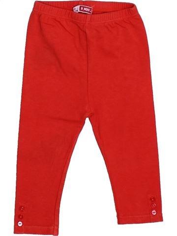 Legging fille DPAM rouge 9 mois hiver #1446919_1
