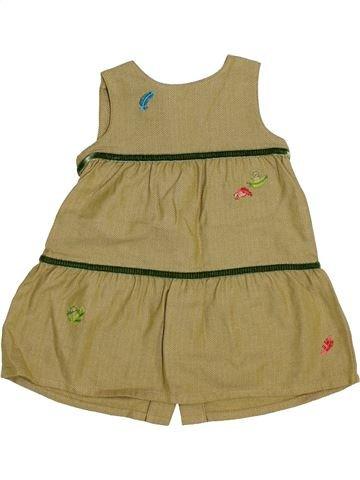 Vestido niña PETIT BATEAU marrón 6 meses invierno #1446954_1
