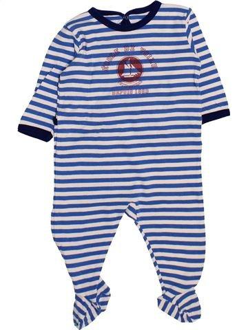 Pijama de 1 pieza niño PETIT BATEAU azul 6 meses invierno #1446979_1