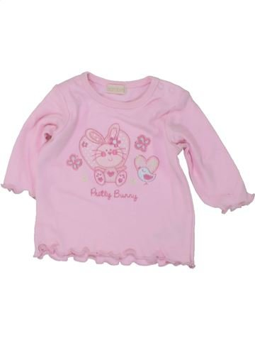T-shirt manches longues fille BAMBINI rose naissance hiver #1447100_1