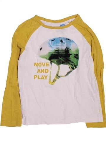 T-shirt manches longues garçon OKAIDI blanc 3 ans hiver #1447764_1