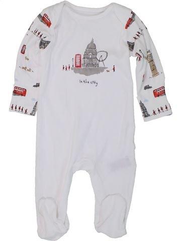 Pyjama 1 pièce garçon MOTHERCARE blanc 6 mois été #1447794_1