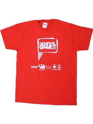 T-shirt manches courtes garçon FRUIT OF THE LOOM rouge 11 ans été #1448022_1