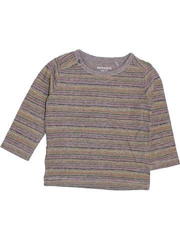 T-shirt manches longues garçon IMPS & ELFS gris 12 mois hiver #1448025_1