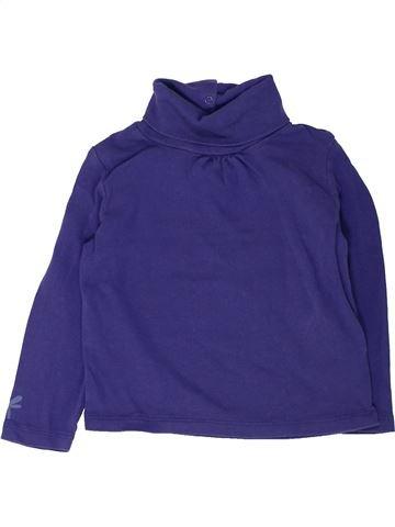 T-shirt col roulé fille VERTBAUDET violet 3 ans hiver #1448200_1