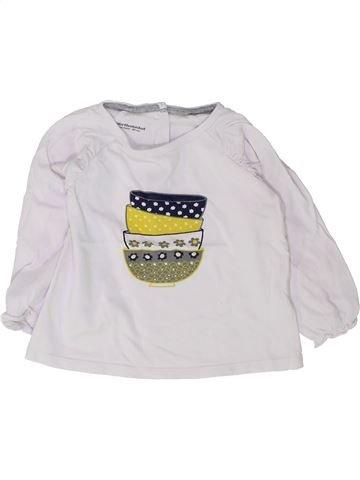 T-shirt manches longues fille VERTBAUDET blanc 2 ans hiver #1448494_1