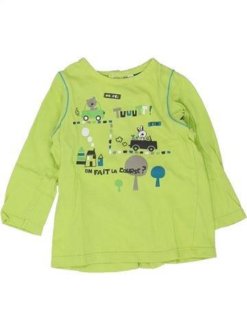 Camiseta de manga larga niño ORCHESTRA verde 6 meses invierno #1448538_1