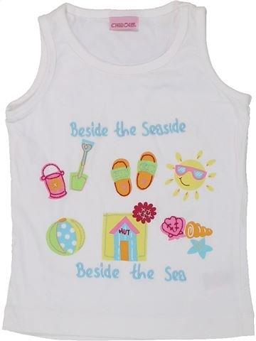 Camiseta sin mangas niña CHEROKEE blanco 2 años verano #1448714_1