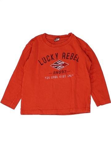 T-shirt manches longues garçon TAPE À L'OEIL rouge 3 ans hiver #1448834_1