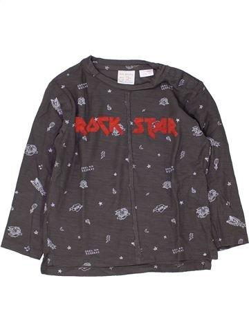 T-shirt manches longues garçon ZARA gris 4 ans hiver #1449027_1